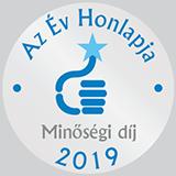 Év Honlapja Minőségi díj 2019